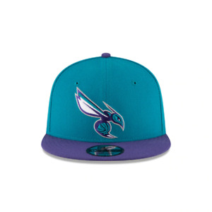 Men's New Era 9Fifty Teal/Purple NBA Charlotte Hornets Official Team Colors
