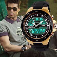 Skmei Mens Sport Military Digital Big Dial Date Chrono Analog Quartz Wrist Watch