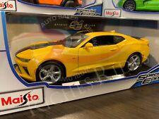 Maisto 1:18 Scale Diecast Model Car - 2016 Chevrolet Camaro SS (Yellow)