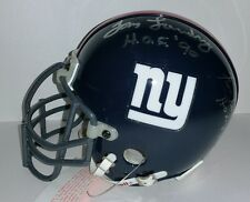 Tom Landry Fran Tarkenton NY Giants Throwback Autographed Mini Helmet JSA Letter