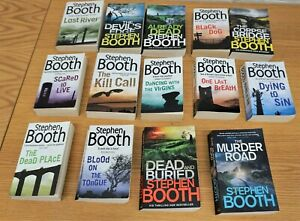 Bundle  of x14 Books  By Stephen Booth