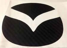 MAZDA 2 3 CARBON FIBRE STYLE REAR BADGE INSERTS STICKER DECAL LOGO BLACK BOOT UK