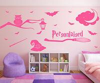 Wall Stickers Harry Potter custom name owl wand stars vinyl decal decor Nursery
