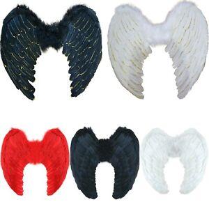 Angel Wings Devil Fancy Dress Fairy Feather Glitter Hen Party Halloween Large UK