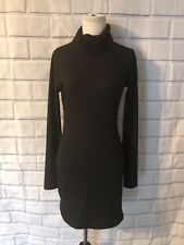 NWT Tobi Black Turtleneck Dress Sz S Long Sleeve LBD Ribbed Party Cocktail New