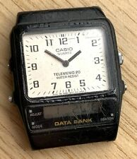 Casio Telememo 20 Data bank ANA DIGI quartz 30,5mm NO Funciona for parts no tapa
