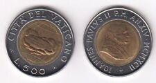 1992 Vaticano Lire 500 Bimetallica Giovanni Paolo II Anno XIV Fior di Conio Unc