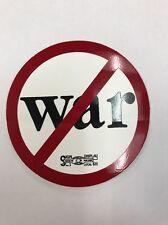 """New """"No War"""" Sticker / Decal"""