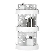 Angoliera doccia design in ABS con 3 ripiani regolabili porta oggetti bianca