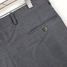 Bernard Zins Wool Ken Charcoal/Gray Pleated Cuffed Men's Dress Pants Sz 34 x 28