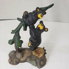 "Bearfoots Figurine by Jeff Fleming ""Bears on Tree"""