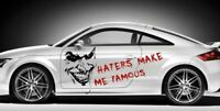 Joker + Haters make me Famous Aufkleber Sticker Autoaufkleber Folie Tuning