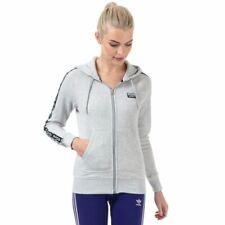 Para Mujer Adidas Originals r.y.v. Full Zip Slim Fit Chaqueta Con Capucha en Gris
