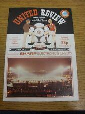 06/03/1985 Manchester United v Videoton [UEFA Cup] (token removed, folded, team