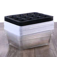 10Pcs Seed Starter Tray Plant Germination Box 12 Cells for Seed Starting Cloning
