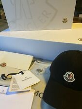 100% Auth. Black Moncler Baseball Hat Cap Brand New with box and receipt