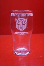 Laser Engraved Pint Glass Transformers Autobots Logo