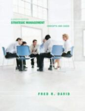 Strategic Management: Concepts and Cases (11th Edition), Fred R. David, Good Boo