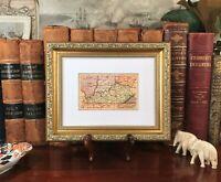 Framed Original 1878 Antique Map KENTUCKY Frankfort Richmond Covington Newport