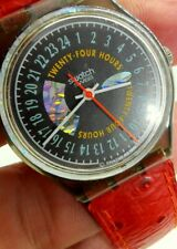 MONTRE WATCH SWATCH AG 1992 ROCKING TWENTY FOUR HOURS GM117 VINTAGE