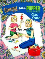 Vintge 1966 Tammy Pepper Paper Dolls ~Pretty Laser Reproduction~Org Size Uncut
