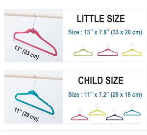 Non-Slip Kids Children's Child Baby Clothes Coat Hangers Velvet Flocking 30PCS