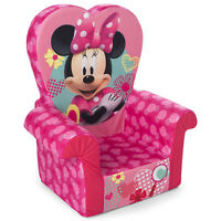 Marshmallow Furniture Comfy Foam Toddler Kids High Back Chair, Pink Minnie Mouse