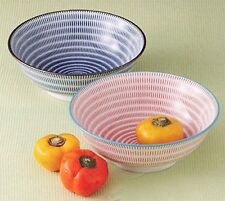 Mino Ware Porcelain Pair Ramen Noodle Bowl Set/ Donburi Bowl/ Tokusa Pattern