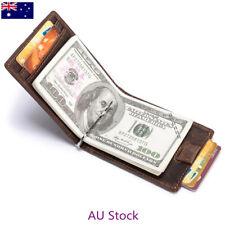 Men's RFID Bifold Slim Genuine Leather Money Clip Credit Card ID Holder Wallets