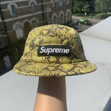 Supreme FW11 Green Snakeskin 5 Panel Camp Cap RARE