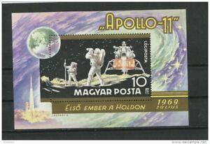 Hungary 1969 Sheet  Mi Block 72a MH Space Apollo 11