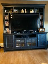 Used tv entertainment unit in black Black
