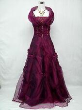 Cherlone Lila Lang Hochzeit/Abend Abendkleid Ballkleid Brautkleid Kleid 36-38