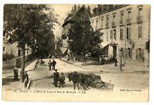 CPA 39 Jura Dole L'Hôtel de Lyon et Rue de Besançon animé charette