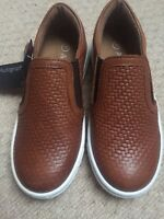 MARKS AND SPENCER AUTOGRAPH - BOYS SLIP ON LEATHER SHOES - UK 10 - BNWT