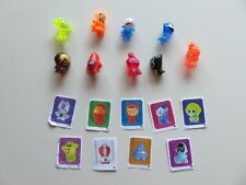 Lot of 9 Evolution GoGo's Crazy Bones w/ Stickers of Other Crazy Bones Included
