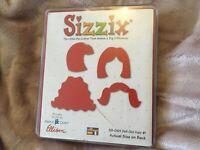 Sizzix Bigz  Original Red Die 30-101 Doll Girl Hair .Very rare