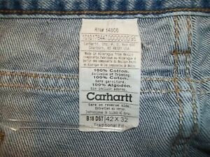 """CARHARTT Traditional Fit Tapered-Leg Jeans Men's Size 42"""" x 32""""  B18-DST"""