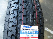 2 New ST 225/75R15 Freestar Radial Trailer Tires 10 Ply 2257515 225 75 15 R15 E