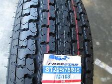 4 New ST 225/75R15 Freestar Radial Trailer Tires 10 Ply 2257515 225 75 15 R15 E