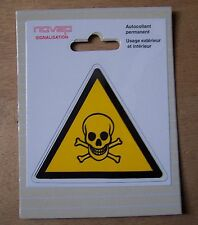 #) pictogramme adhésif signalisation danger : MATIERE TOXIQUE