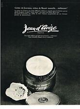 PUBLICITE  1969   JEAN D'AVEZE   cosmétiques cremes