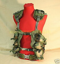 US Military LOAD BEARING VEST Tactical LBV w/ LARGE PISTOL BELT NICE