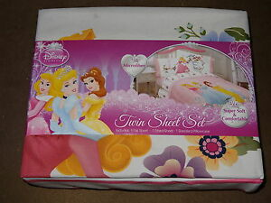 Disney PrincessTwin Sheet Set-Microfiber-Super Soft & Comfortable-New