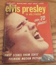 Elvis Presley in Hollywood 1956 mini magazine photos film stills