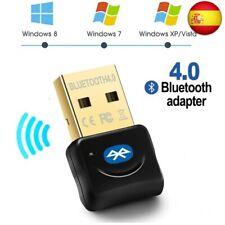 Maxesla Adaptador de Bluetooth 4.0 Bluetooth USB PC Bluetooth Transmisor (Negro)