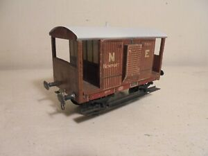 "Leeds""O""- WO/200 NE Litho Goods Brake Van(boken running board)fair/unboxd c1936"