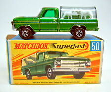 "Matchbox SF Nr.50A Kennel Truck d'grünmetallic breite Räder top in ""H"" Box"
