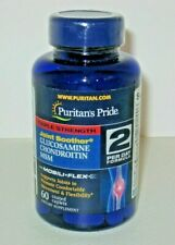 PURITAN'S PRIDE Glucosamine Chondroitin MSM, 2/Day, 60 Caplets, For Joint Relief