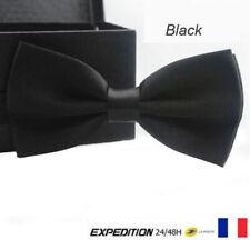 Cravate Homme Garçon Noeud Papillon mariage couleur Noir Black